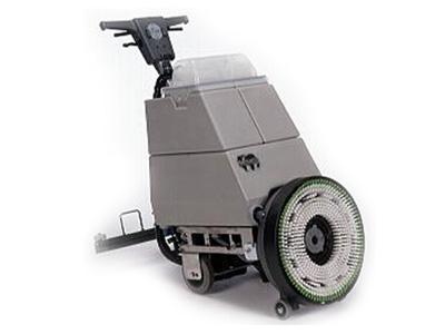 Schrob- en zuigmachine met waterafzuiger