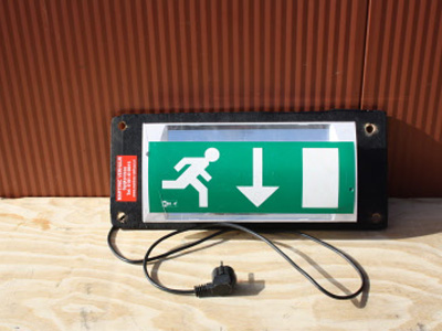 Noodverlichting pictogram uitgang