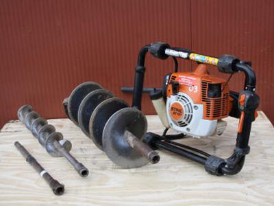 Motor grondboor (boormaat: 9 cm / 12 cm / 20 cm)