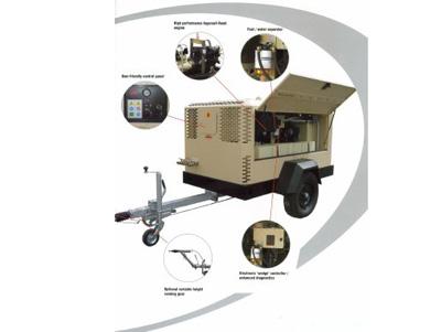 Mobiele diesel compressor 7m3