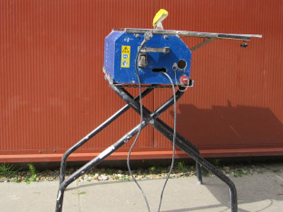 Tegel-plavuizen zaagmachine zwaar