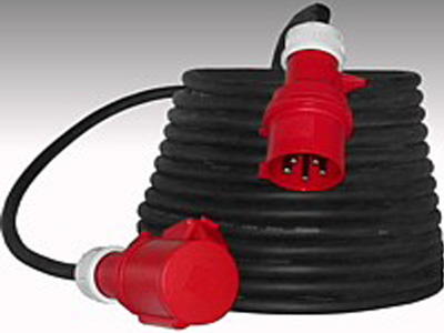 Kabelhaspel 400V 32A-4 polig cee