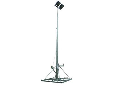 Bouwplaatsverlichting mast