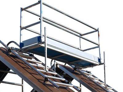 Dak- Schoorsteensteiger compleet, lengte 1,90m
